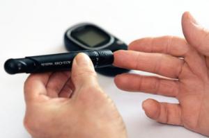 checking the blood sugar