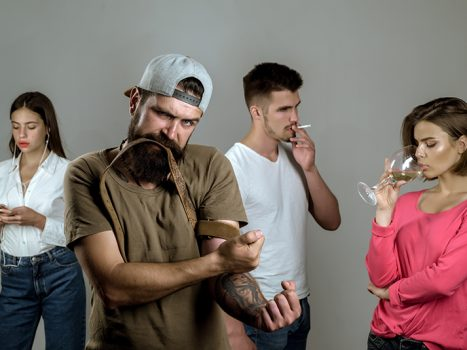 people with different addictions